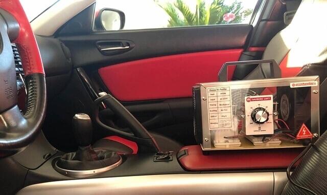 autó fertőtlenítés ózongenerátorral