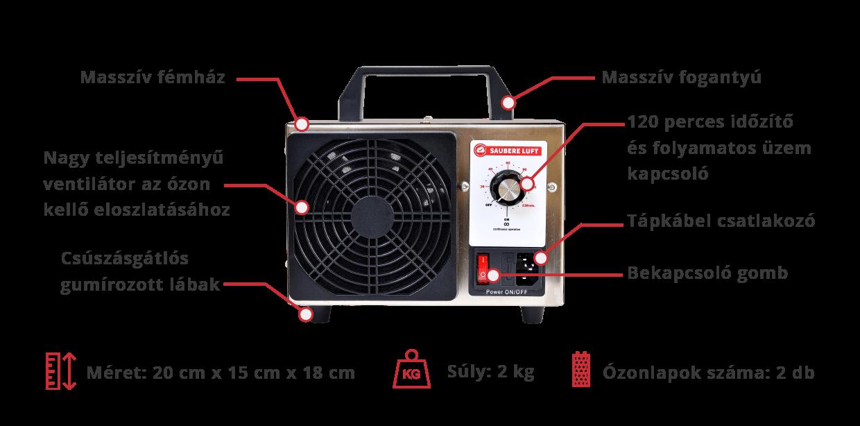Saubere Luft Ózongenerátor 10 g/óra