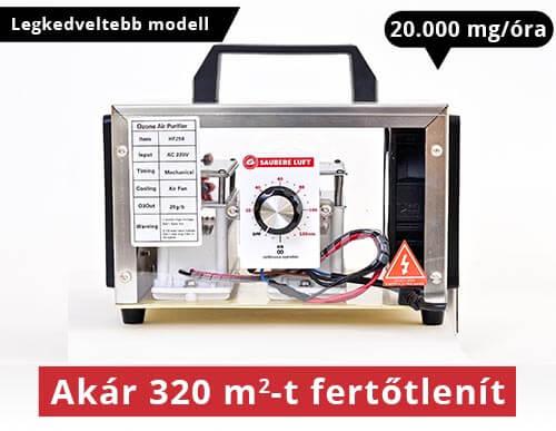 Saubere Luft Ózongenerátor 20000 mg/óra
